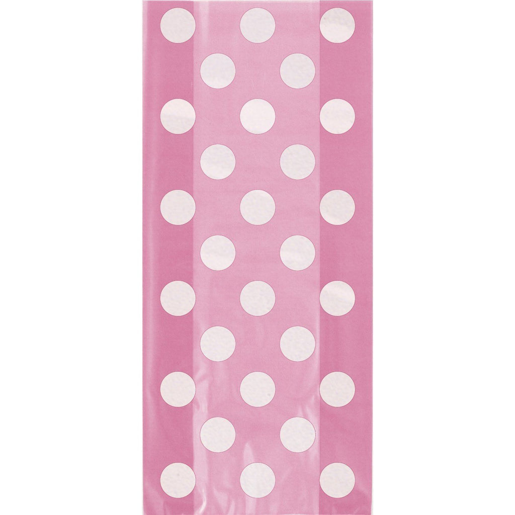 Hot Pink Dots Cello Bags- sell off (special price 0.38 when ordered in mixed pallet)