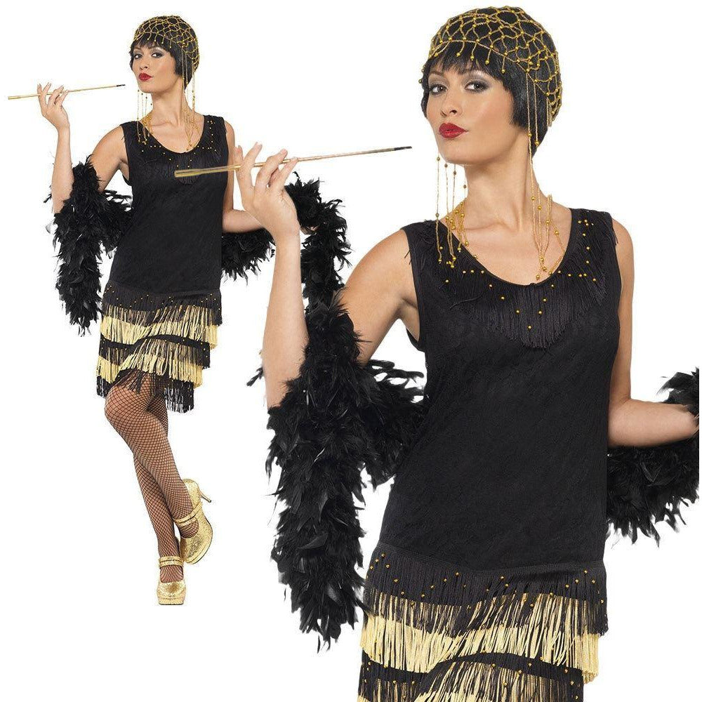 Smiffys 1920s Fringed Flapper Costume Small