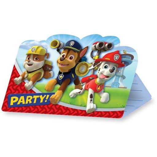 Paw Patrol 8 Invitations