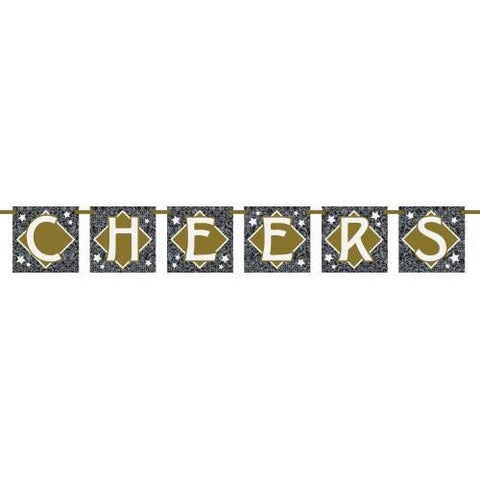 "Jazzy New Year's ""Cheers"" Block Banner"