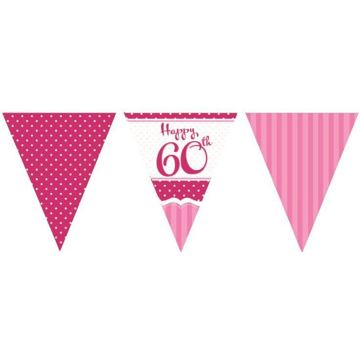 Perfectly Pink Bunting 60th