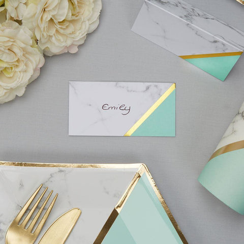 Colour Block Place Cards - Mint x10
