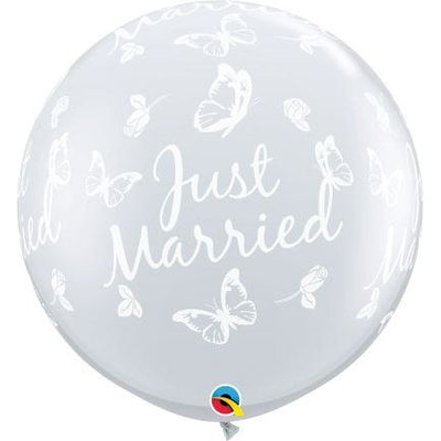 3FT  RND  DIAMOND CLEAR   02CT JUST MARRIED BUTTERFLIES-A-RND