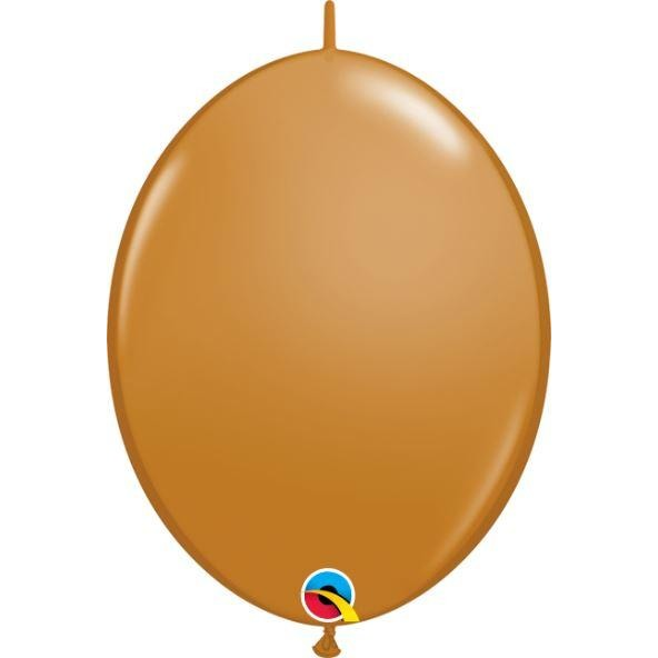 "06"" QLINK MOCHA BROWN     50CT,  QUALATEX QUICK LINK BALLOONS"
