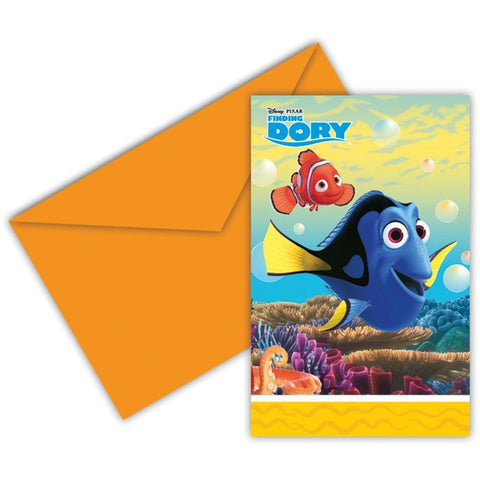 INVITATIONS & ENVELOPES 6CT,  FINDING DORY