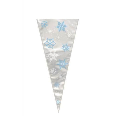Snowflake Cone Cello Bag Christmas - Seasonal Do not Order