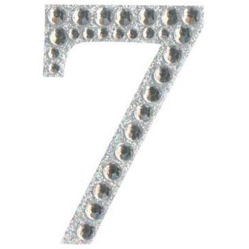 Eleganza Stickers - Silver Number 7