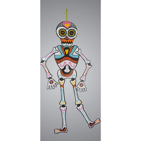 Halloween Day Of The Dead Jointed Skeleton 80cm