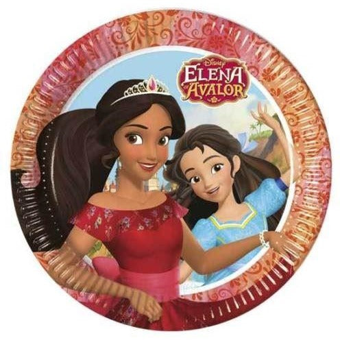 PLATES PAPER LARGE 23CM 8CT,  ELENA OF AVALOR