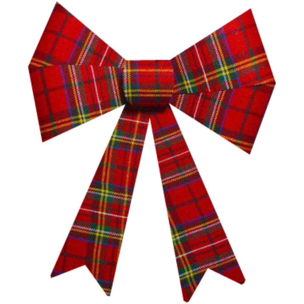 Large Tartan Bow Davies Christmas
