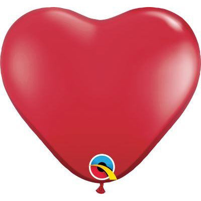 "Qualatex 100 11"" heart ruby red"