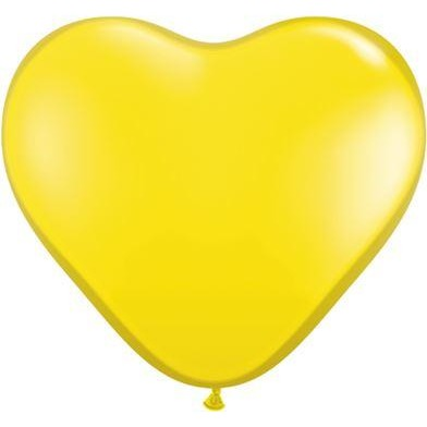"06""  HRT  CTRN YELLOW    100CT,  QUALATEX PLAIN LATEX"