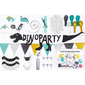 Partydeco Box Of Decorations - Dinosaur Party