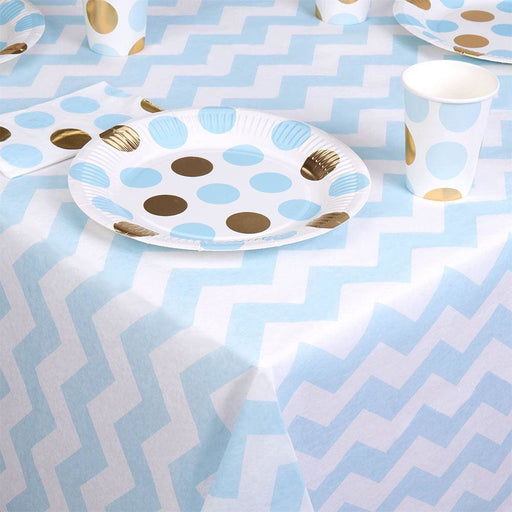Pattern Works Table Cloth - Blue Cheverons