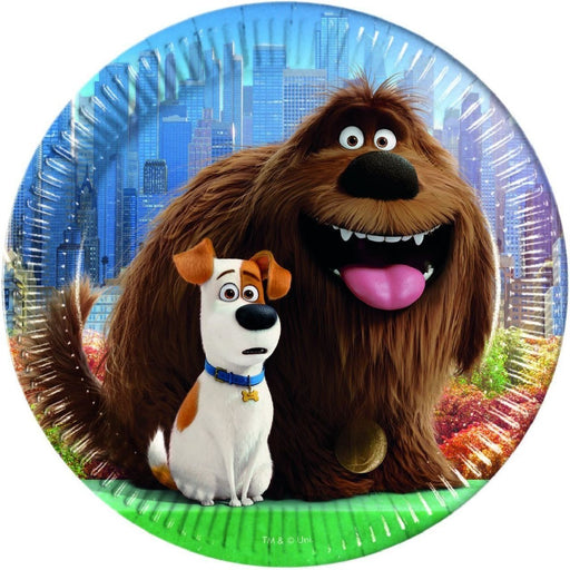 PLATES PAPER LARGE 23CM 8CT,  THE SECRET LIFE OF PETS