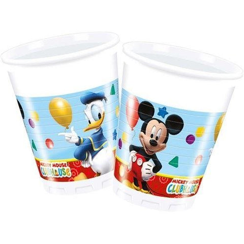 CUPS PLASTIC 200ML 8CT,  PLAYFUL MICKEY