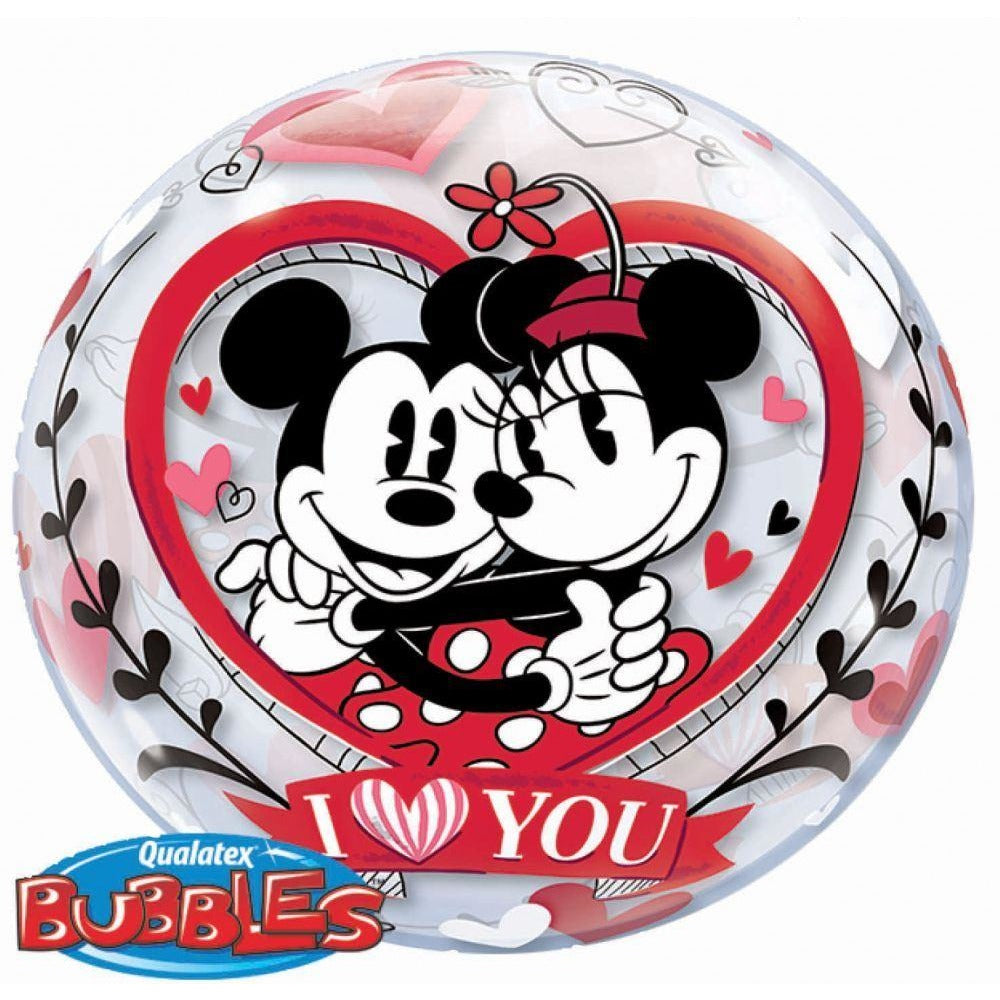 "22""  SINGLE BUBBLE        01CT,  DN MICKEY & MINNIE I LOVE YOU"