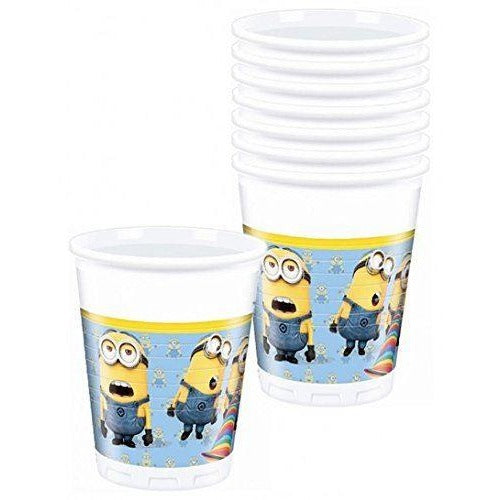 CUPS PLASTIC 200ML 8CT,  LOVELY MINIONS