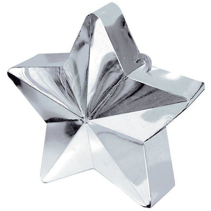 Amscan BALLOON WEIGHT star:silver