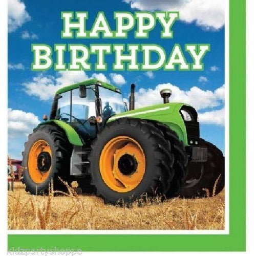 TRACTOR TIME LUNCH NAPKINS HAPPY BIRTDAY 2PLY