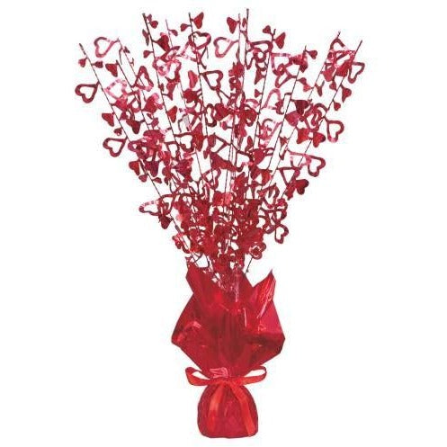 Red Glitz Open Hearts Centerpiece