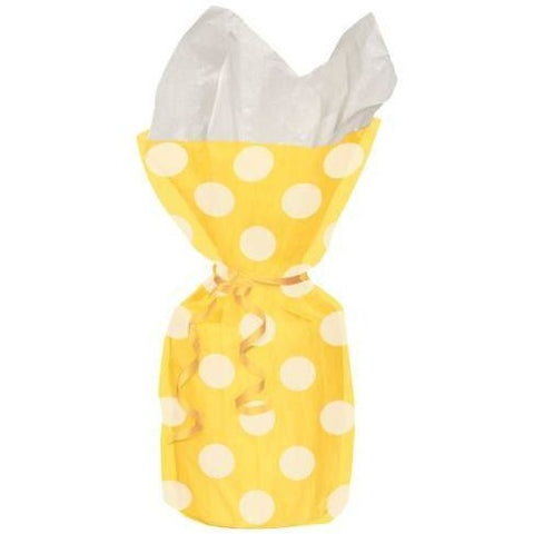 20 Sunflower Yellow Dots Cello Bags