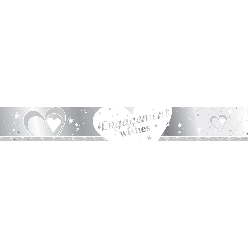 Engagement Wishes Foil Banner - Creative