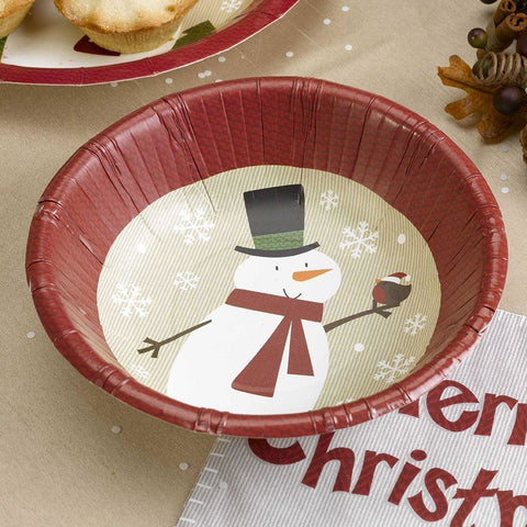 Let It Snow - Paper Bowl - Snowman