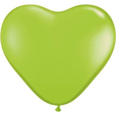 "Qualatex 6"" Lime Green Heart Latex X100"