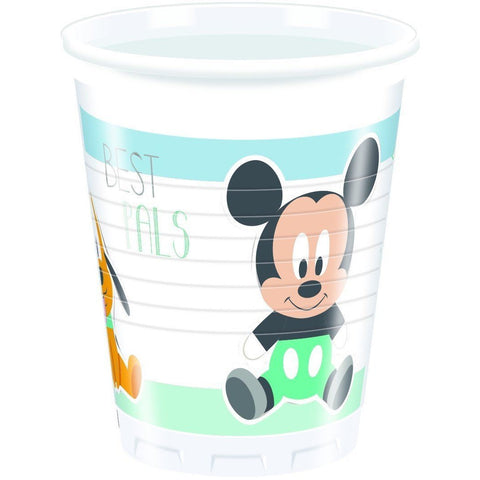 CUPS PLASTIC 200ML 8CT,  INFANT MICKEY