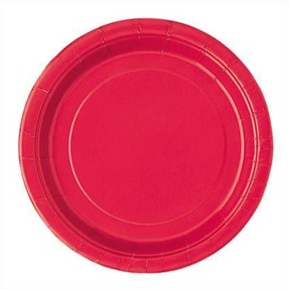 "Ruby Red Solid Round 9"" Dinner Plates, 16ct"