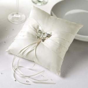 Ring Cushion - Ivory Butterfly