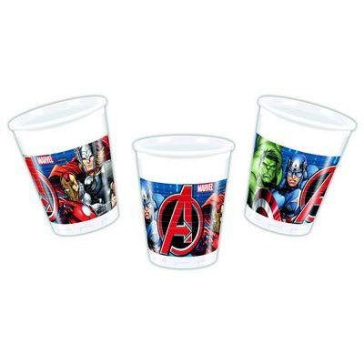 CUPS PLASTIC 200ML 8CT,  AVENGERS POWER
