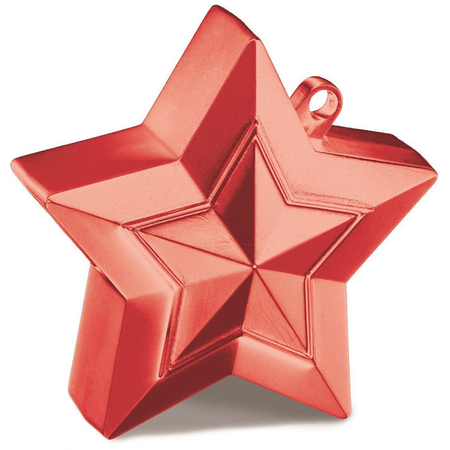 STAR BALLOON WEIGHTS x1 (SINGLE) RED