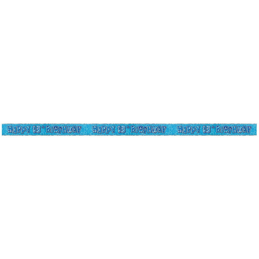 Glitz Blue 13th Foil Banner (9ft) (special price of 30p) (Also Upstairs)
