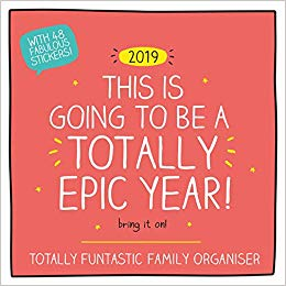 2019 Official Calendar Square Happy Jackson Family Organiser