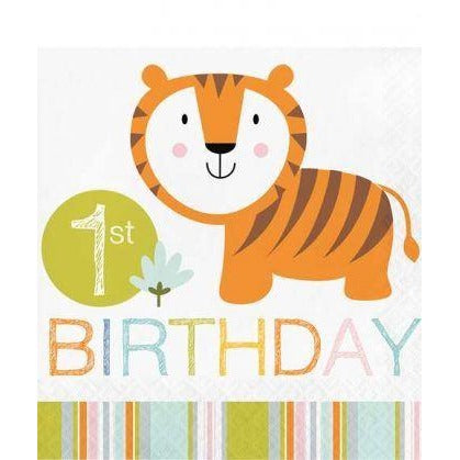 Happi Jungle Lunch Napkins 1st Birthday 2 ply 16Pk Creative