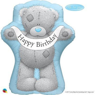 "36""  SHAPE                01CT TATTY TEDDY BDAY BANNER"