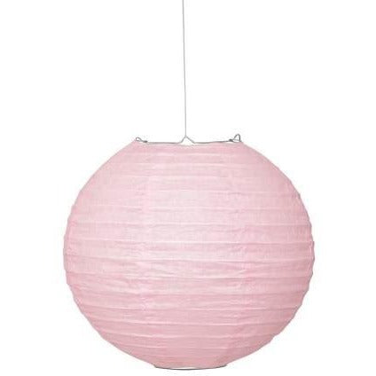 "Lovely Pink Solid 10"" Round Lantern (Also Upstairs)"