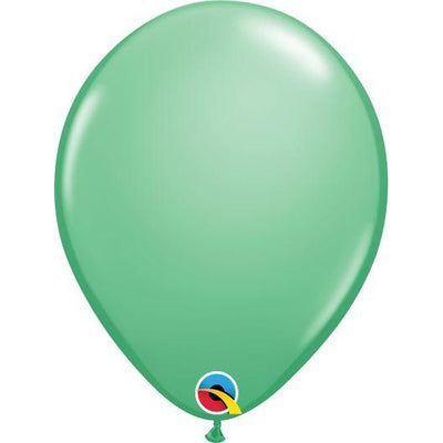 "11""  RND  WINTERGREEN    100CT QUALATEX PLAIN LATEX"