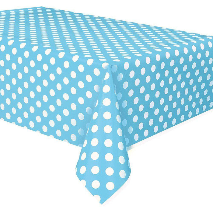 Powder Blue Dots Tablecover (Also Upstairs)