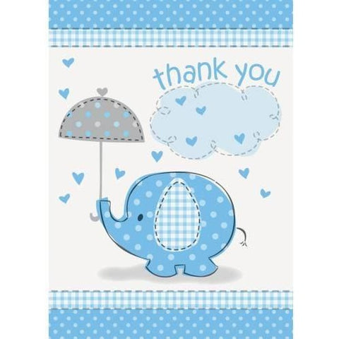 Umbrellaphants Blue Thank You Notes, 8ct