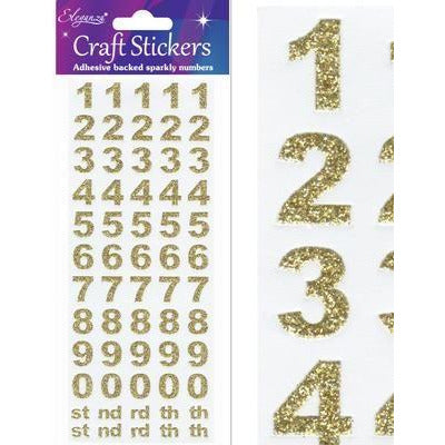 Eleganza Stickers - Bold Numbers Set Gold - no.65