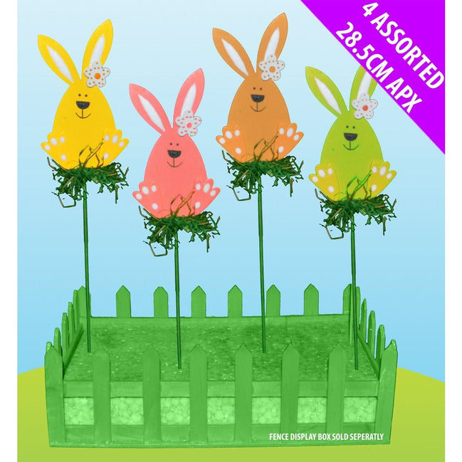 Bunny On Grass Picks Easter (Choose 1 colour)  Davies