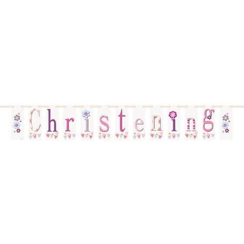 Unique girl christening banner
