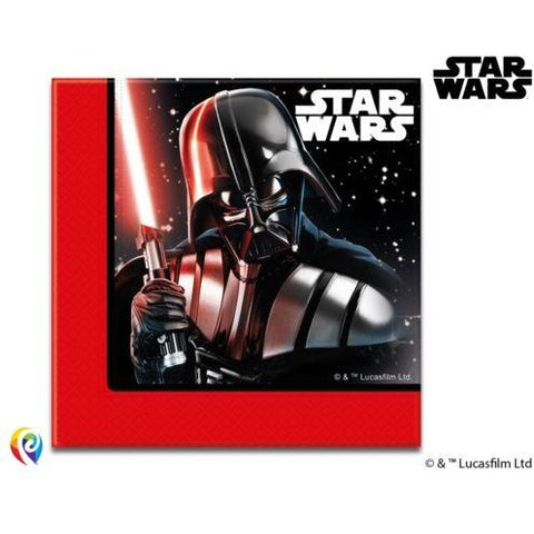 NAPKINS PAPER TWO-PLY 20CT,  STAR WARS