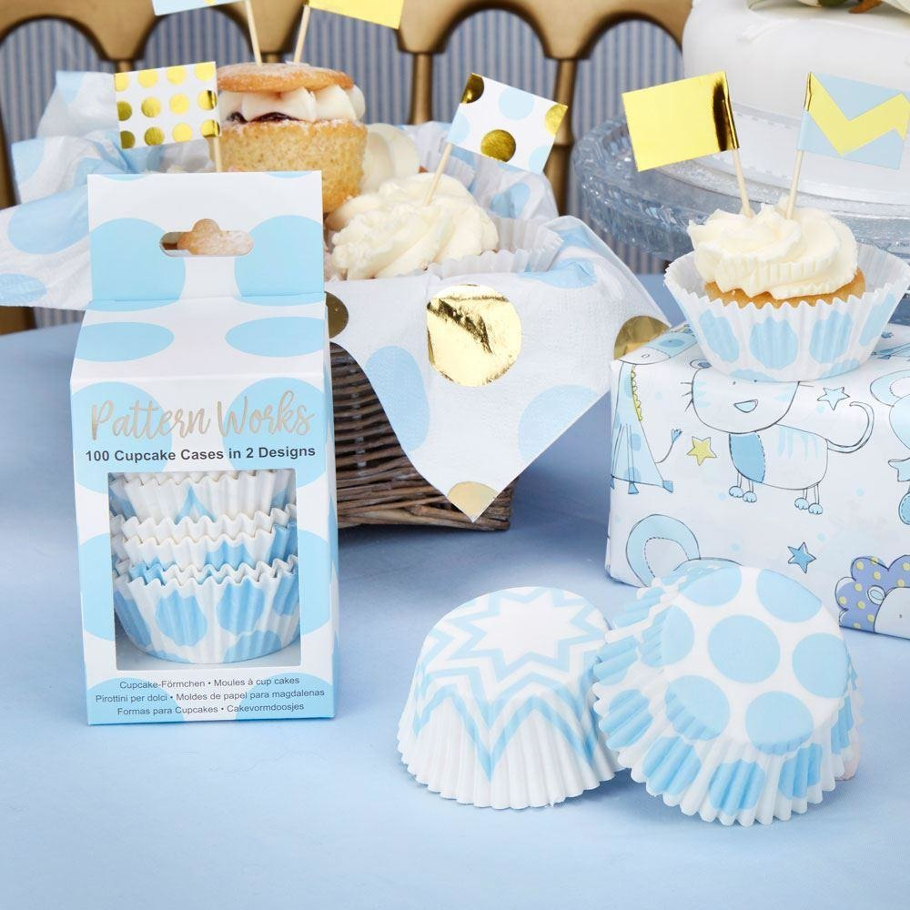 Pattern Works - Cupcake Cases Blue - 100 pack