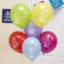 Keep Calm & Party On Balloons - 80th