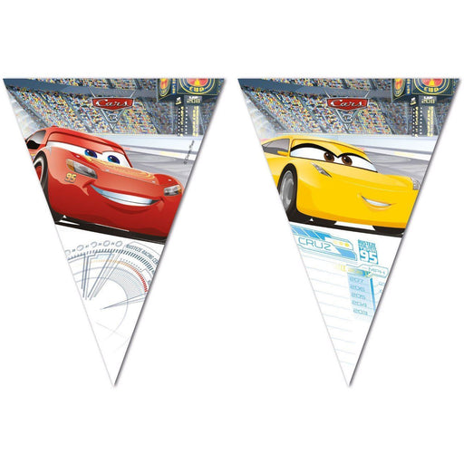 Cars 3 Triangle Flag Banner - Procos