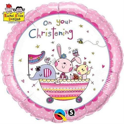 "18""  RND                  01CT,  RE-ON YOUR CHRISTENING PINK"